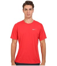 Nike Dri Fit Miler S S Shirt University Red Reflective Silver Men's Workout
