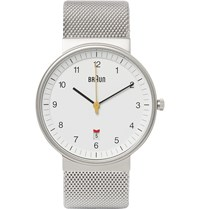 Braun Bn0032 Stainless Steel Watch Silver