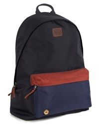Faguo Blue And Camel Nylon Backpack