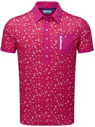 Bunker Mentality Cmax Floral Polo Pink