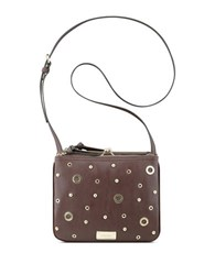 Nine West Jaya Double Top Zip Crossbody Bag Hot Chocolate