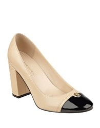Tommy Hilfiger Deane Cap Toe Leather Pumps Natural