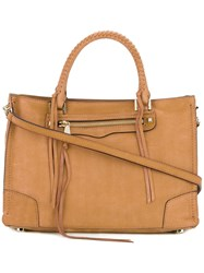 Rebecca Minkoff Whipstitch Detail Tote Women Leather One Size Nude Neutrals
