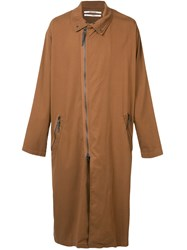 Robert Geller Long Jacket Brown