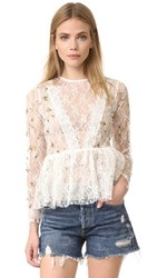 Endless Rose Embroidered Lace Top Off White Combo