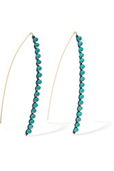 Aurelie Bidermann Sioux Gold Plated Bead Earrings Blue