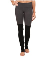 Alo Yoga Goddess Ribbed Legging Stormy Heather Black Women's Workout