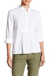 Abound Ruffle Trim Hi Lo Shirt White