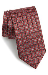 J.Z. Richards Geometric Silk Tie Red