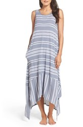 Dkny Women's Long Chemise Flint Stripe