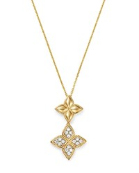 Bloomingdale's Diamond Clover Pendant Necklace In 14K Yellow Gold 0.35 Ct. T.W. 100 Exclusive White Gold