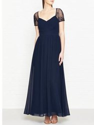 Hobbs Sandra Lace Detail Maxi Dress Navy