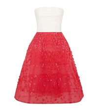 Monique Lhuillier Embellished Tulle Bandeau Dress Female Multi