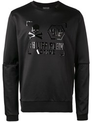 Philipp Plein Printed Logo Sweater Black