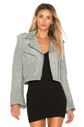 Understated Leather Cropped Bell Sleeve Mc Jacket Gray