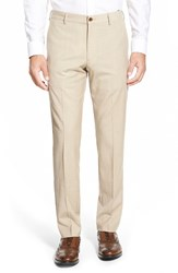 Men's Nordstrom Slim Fit Wool Blend Flat Front Pants Tan Sesame Heather
