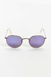 Ray Ban Bronze Round Sunglasses Purple