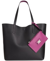 Styleandco. Style Co. Clean Cut Reversible Tote With Wristlet Only At Macy's Black