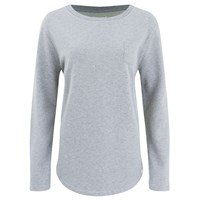 Derek Rose Women's Devon Sweat Top Light Grey Silver