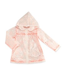 Billieblush Sheer Floral Raincoat Pink