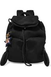 See By Chloe Joy Rider Small Leather Trimmed Mesh Neoprene Backpack Black