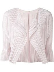 Issey Miyake Pleats Please By Cropped Blazer Women Polyester 4 Pink Purple
