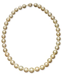 Macy's Pearl Necklace 18' 14K Gold Cultured Golden South Sea Pearl Graduated Strand 10 12 1 2Mm