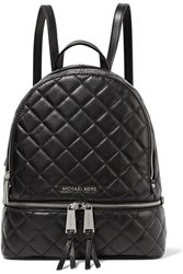Michael Michael Kors Rhea Medium Quilted Leather Backpack Black