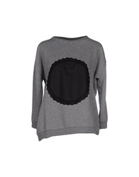 Soho De Luxe Topwear Sweatshirts Women Grey