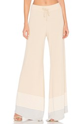 Wildfox Couture Port Stripes Pant Tan