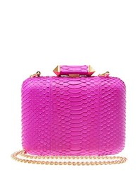Brian Atwood Leather Minaudiere Berry