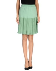 A'biddikkia Knee Length Skirts Light Green