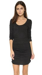 Lanston Longsleeve Ruched Dress Black