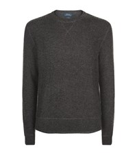 Polo Ralph Lauren Waffle Knit Cashmere Jumper Male Dark Grey