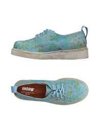 Mtng Lace Up Shoes Sky Blue