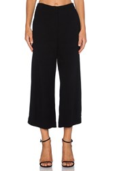 Twelfth St. By Cynthia Vincent Side Slit Crop Pant Black