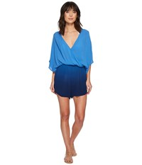 Green Dragon Take A Dip Eliza Kimono Sleeve Romper Sapphire Jumpsuit And Rompers One Piece Blue