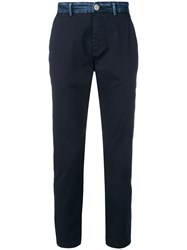 Frankie Morello Tapered Sathya Trousers Blue