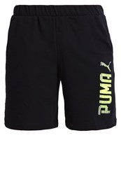 Puma Rebel Sports Shorts Black Safety Yellow