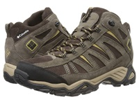 Columbia North Plains Mid Leather Waterproof Cordovan Prairie Sand Men's Hiking Boots Brown
