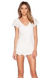 For Love And Lemons Pina Colada Romper White