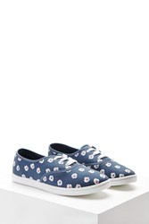 Forever 21 Floral Print Canvas Sneakers
