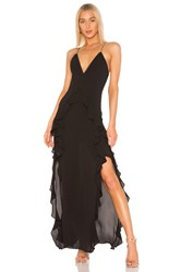 The Jetset Diaries Light My Fire Maxi Dress Black