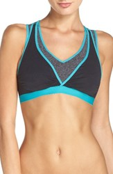 Cake Women's 'Lotus Comfort' Nursing Sports Bra Black Teal