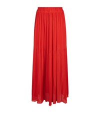 Pinko Pleated Crepe Midi Skirt Female Red