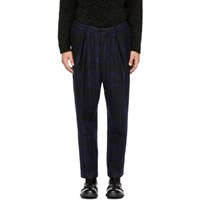 Tomorrowland Blue Check Tuck Wide Trousers