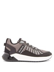 Balmain B Trail Leather And Mesh Trainers Black White