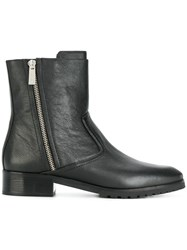 Michael Michael Kors Ankle Zip Boots Leather Polyamide Rubber 7.5 Black