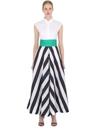 Sara Roka Striped Cotton Poplin Shirt Dress