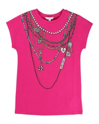Little Marc Jacobs Essential Jersey Trompe L'oeil Tee Pink